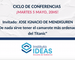 "Conferencia: José Ignacio ""Vasco"" De Mendiguren"""