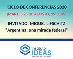 Conferencia: Miguel Lifschitz