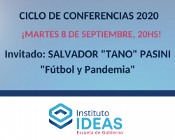 "Conferencia: Salvador ""Tano"" Pasani"