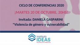 Conferencia: Daniela Gasparini