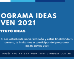 PROGRAMA IDEAS JOVEN 2021